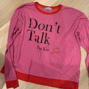 Wildfox Don't Talk Just Kiss Oversized Sweater